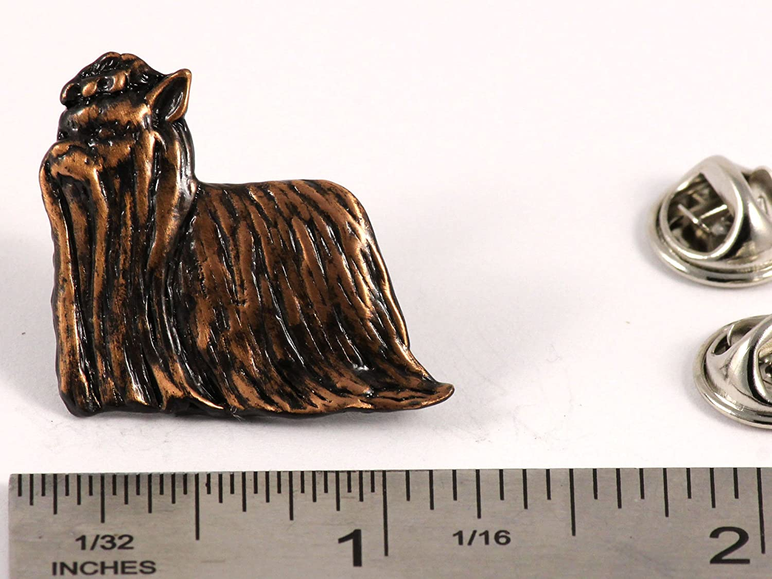 Yorkie Dog Pewter Lapel Pin D486F Brooch Jewelry