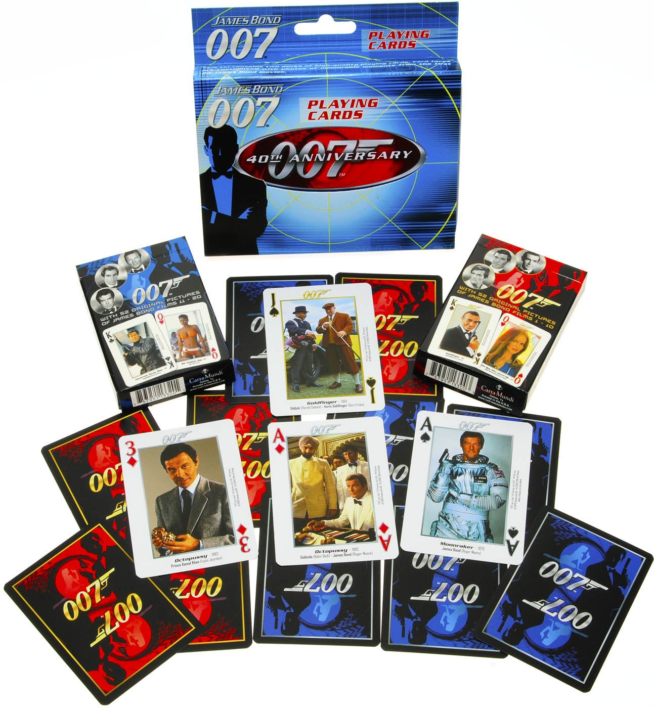 James Bond Playing Cards 2 Decks In Tin Amazon Co Uk