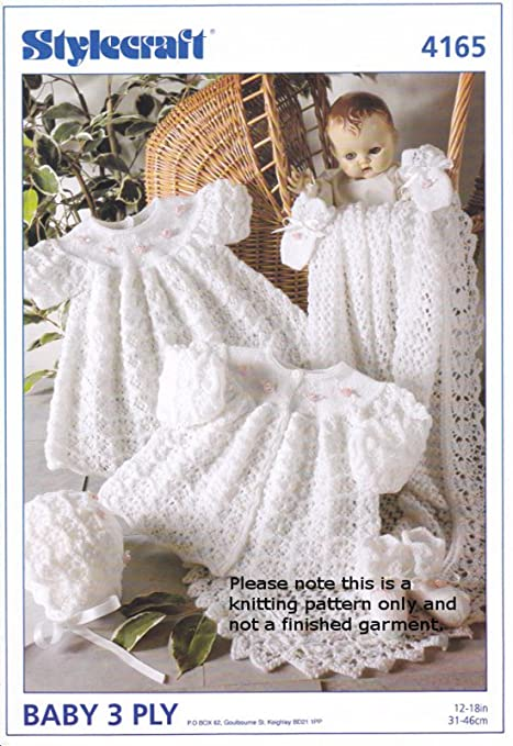 f43d25d0b Stylecraft 3 Ply Knitting Pattern - 4165 Baby Outfit  Baby Product ...