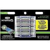 Schick Hydro Sense Sensitive Mens Razor Blade Refill with Sensitive Gel, Includes 12 Razor Blades Refills