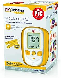 Pic GlucoTest Kit Completo Misurazione Glicemia 1 Kit