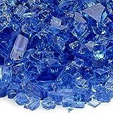 American Fireglass 5-Pound Fireplace and Fire Pit Glass,  Cobalt Blue, 1/4-Inch