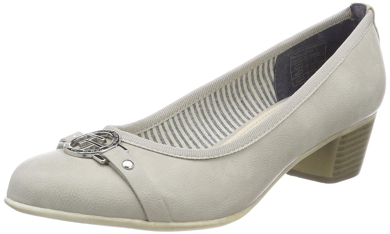 Tom Tailor Women's 4892302 Closed Toe Heels, Grey (ice), 6.5