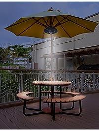 Outdoor Umbrella Lighting Outdoor umbrella lights amazon patio umbrella lights 3 lighting mode umbrella lights battery operated umbrella pole light outdoor lighting workwithnaturefo