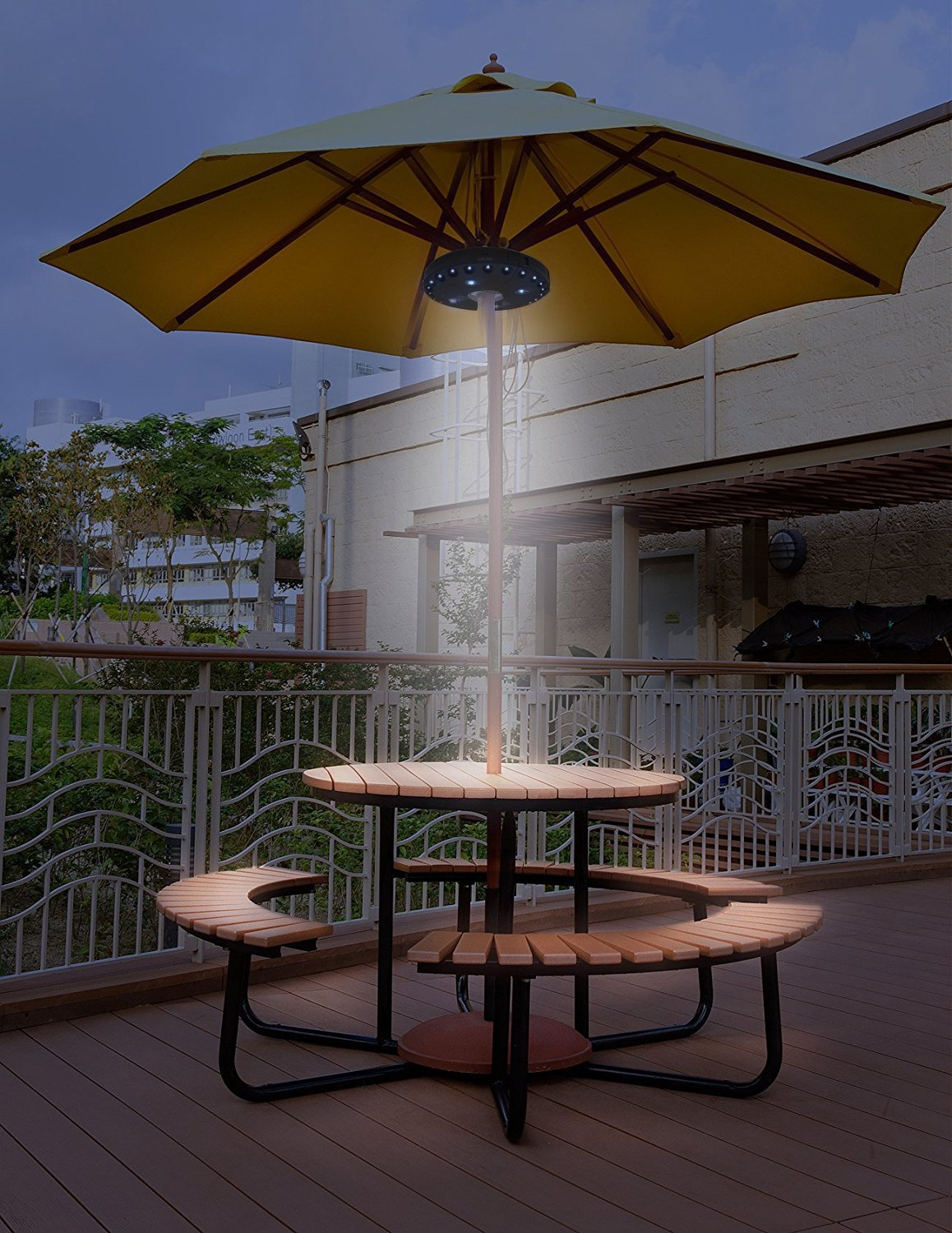 Patio Umbrella Lights - 3 Lighting Mode Umbrella Lights Battery Operated Umbrella Pole Light Outdoor Lighting - 28 LED Night Light 220 lux for Patio Umbrellas, Outdoor Use or Camping Tents