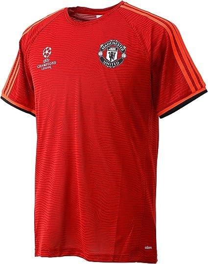 adidas Maillot à Manches Courtes pour Homme Manchester United UCL