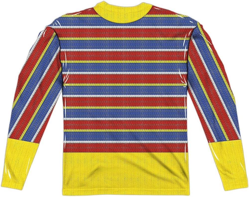 Sesame Street TV Show ERNIE COSTUME 2-Sided Print Long Sleeve Poly T-Shirt