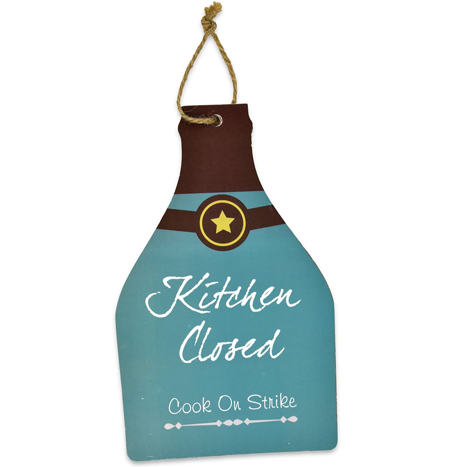 Amazon.com: Gift Boutique Kitchen Theme Plaques Wooden Hanging Wall ...