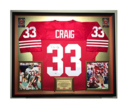fe196c306b4 Premium Framed Roger Craig Autographed Signed San Francisco 49ers Jersey -  PSA COA at Amazon s Sports Collectibles Store