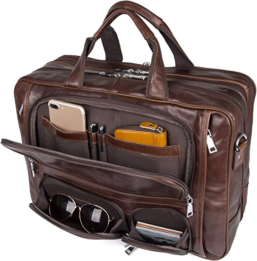 Genuine Leather 15.6 Inch Laptop Bag Briefcase and Bussiness Bag