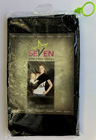 Seven Everyday Slings Baby Carrier Sling Color Black Size 5//Large