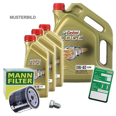 1 x Set de aceite – Muñeco de aceite + 8 L Castrol Edge FST 0