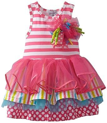 Amazon.com: Mud Pie - Tiered First Birthday Party Dress Size 12-18 ...