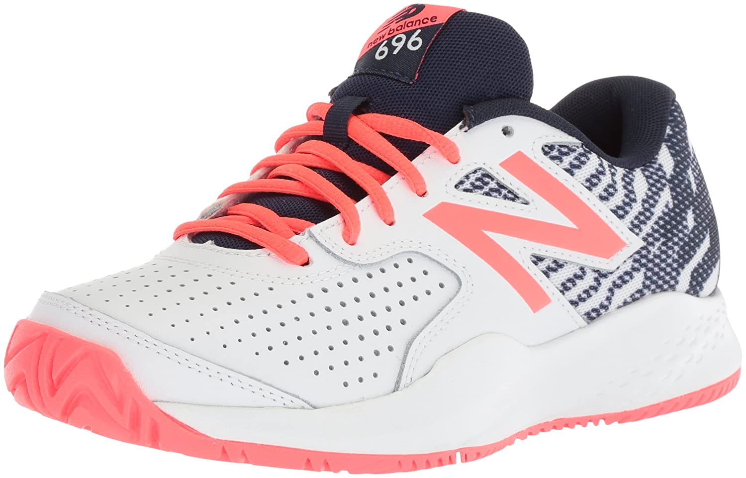 New B06XSBTBT7 Balance Women's 696v3 Tennis-Shoes B06XSBTBT7 New 7 B(M) US|Pigment/Vivid Coral 46fb9f