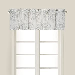 C&F Home Clementina Gray Floral Botanical Spring Summer Cotton Bedroom Guestroom Premium Window Valance Standard Valance Gray