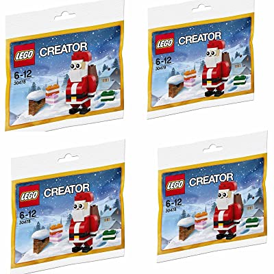 LEGO Creator 30478 Jolly Santa Christmas Polybagged 74 Piece Set - 4 Sets: Toys & Games
