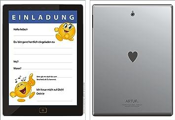 10 divertido Tablet de tarjetas de tarjetas de invitación (+ 2 ...