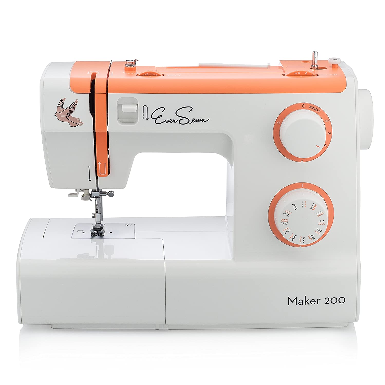 EverSewn Maker 200 - Mechanical Sewing Machine - Professional Grade: 23 Stitches, Stitch Width + Buttonhole - Great for Heavy Sewers Crown Technics