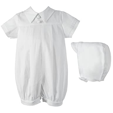 c722b3bc801 Amazon.com  Lauren Madison Baby Boys  Two-Piece Baptism Set  Infant And  Toddler Christening Apparel  Clothing