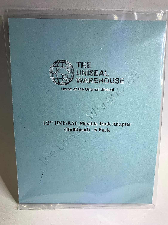 Bulkhead 2 Pack 1//2 UNISEAL Flexible Tank Adapter
