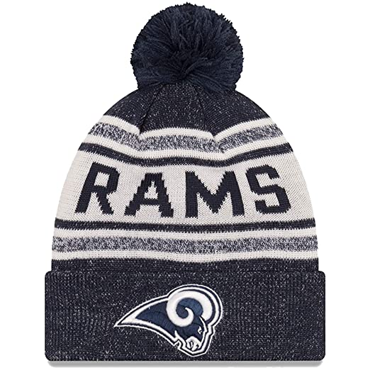 c741188dc Image Unavailable. Image not available for. Color  New Era Los Angeles Rams  Toasty Cover Gray Navy Sport Cuff Knit Beanie ...