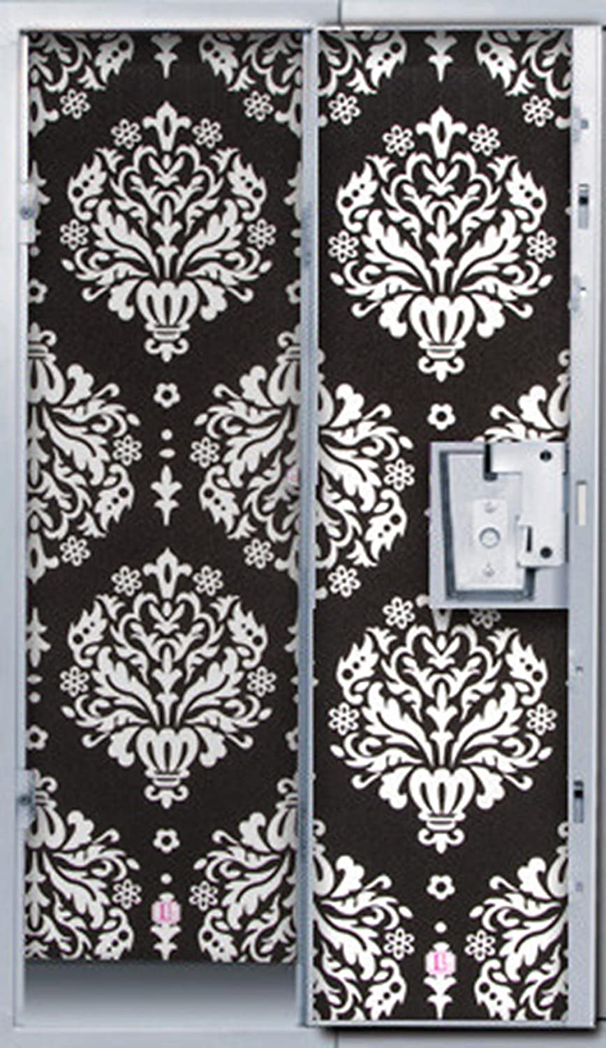 Amazon black and white damask locker wallpaper office products arubaitofo Images
