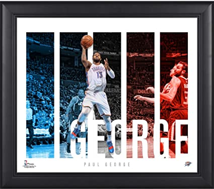 dcc8f7122b1 Paul George Oklahoma City Thunder Framed 15 quot  x 17 quot  Player Panel  Collage - NBA