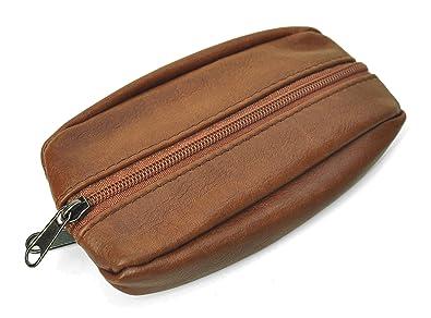 PETIT souple véritable cuir doux Porte-monnaie porte carte de Crédit Porte-monnaie porte clé - Marron ws9Thx