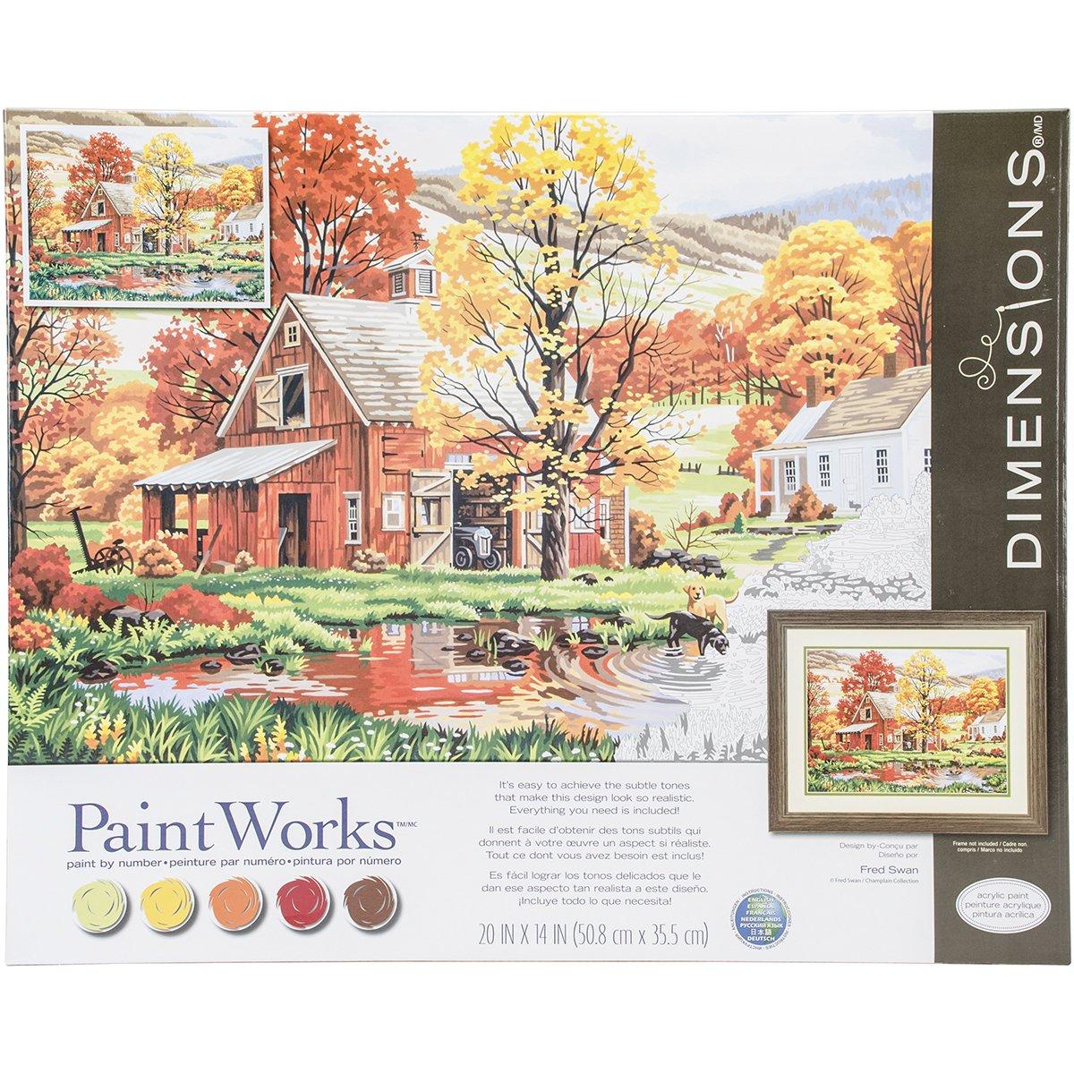 amazon com dimensions crafts 73 91475 friends of autumn paint