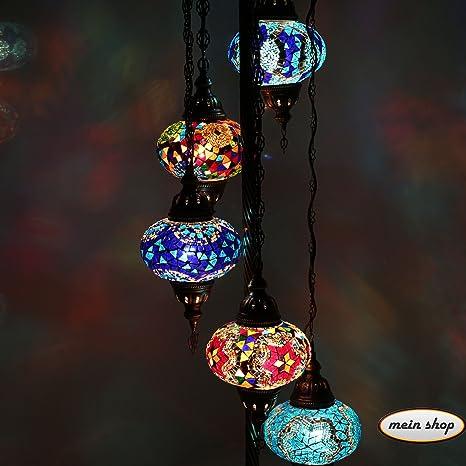 Pie mosaico Proyección Marrakesch mosaico Turco lámpara de ...