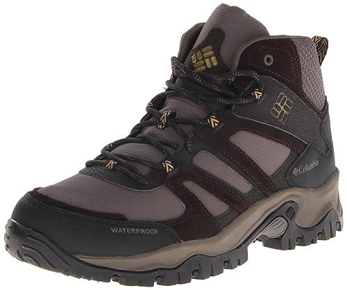 Columbia Men's Woodburn Mid Waterproof Wide Hiking Boot,Mud/Toast,11.5 D US
