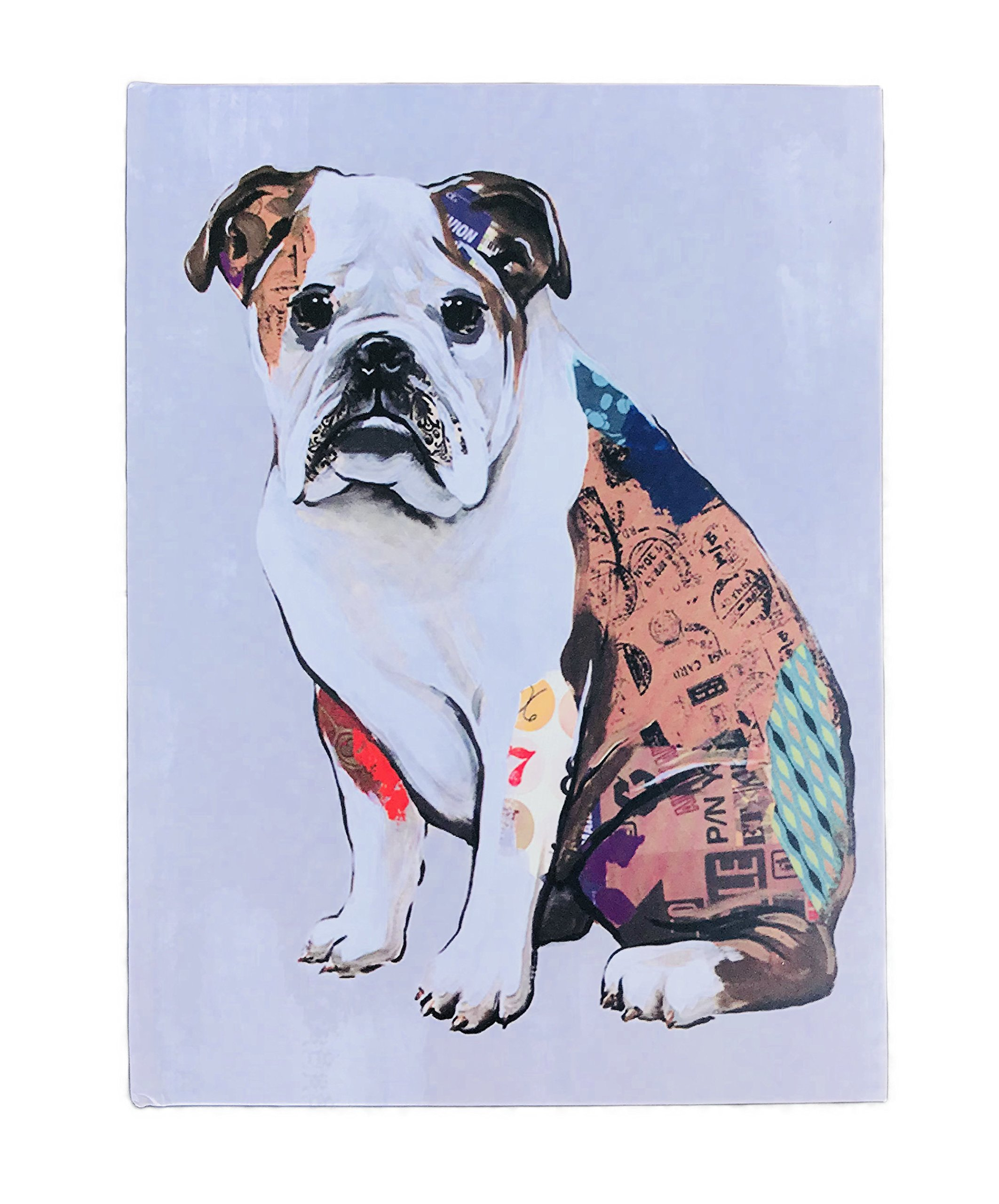 English Bulldog Themed Lined Hard Covered Journal Notebook 8.5'' x 6.25''