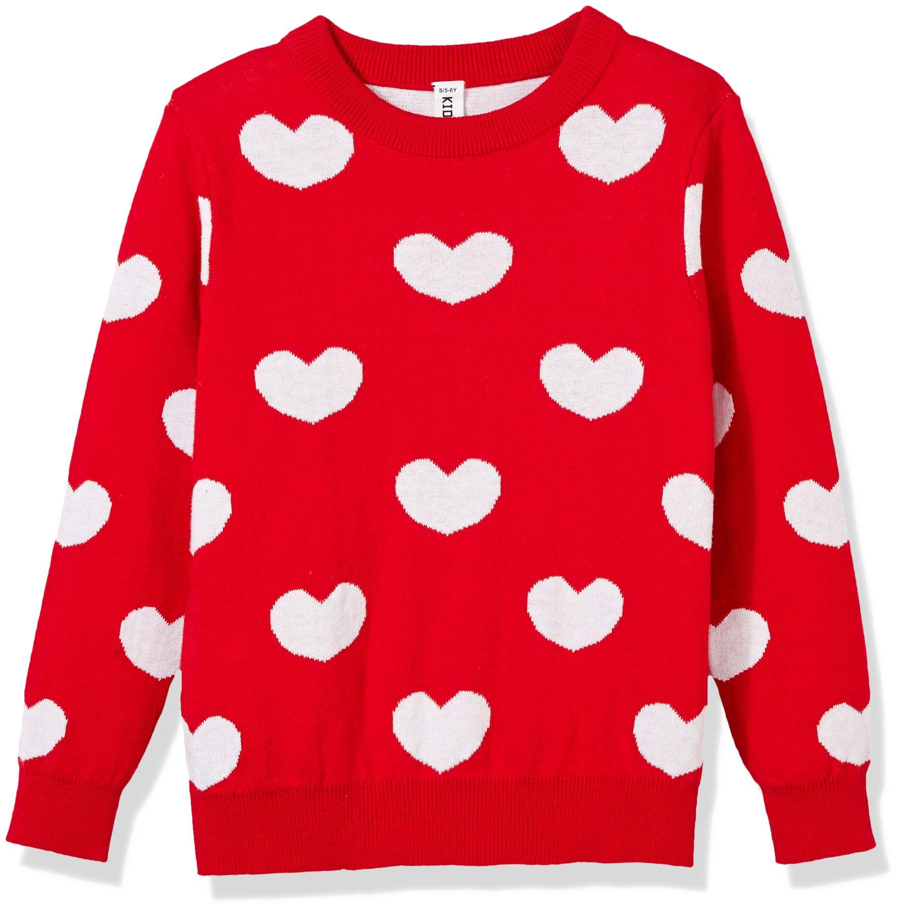 Kid Nation Girls' Long Sleeve Lovely Sweater Pullover