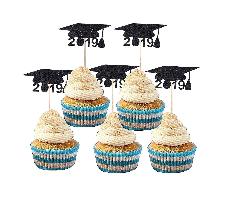 Graduation Cupcake Toppers 48pcs Class Of 2019 Graduation Cupcake