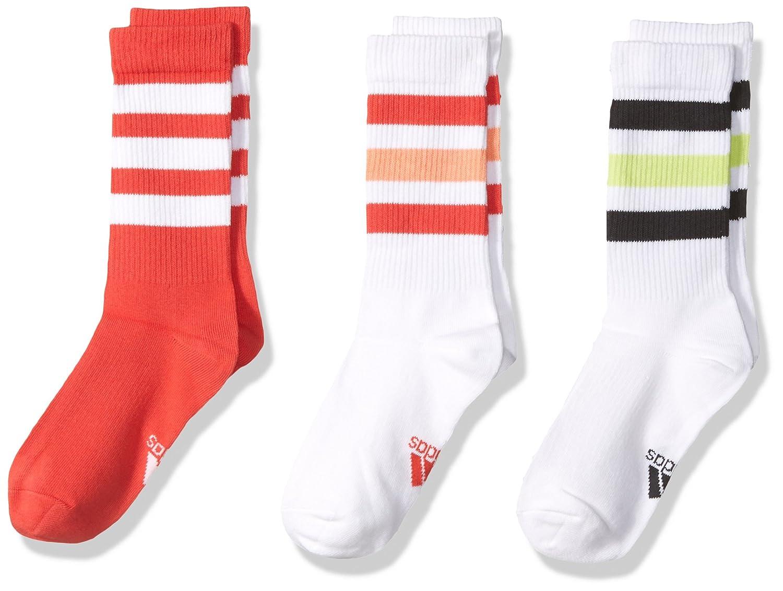 adidas Girl's Thin Crew Athletic Socks (Pack of 3) CV7141-PARENT