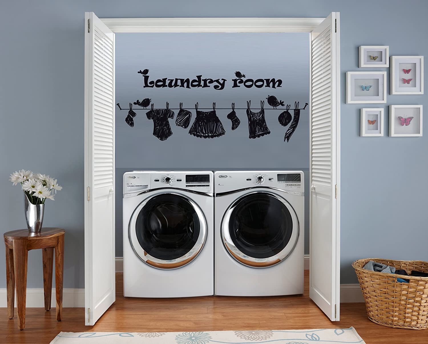 The Laundry room drop your pants  vinyl wall decal