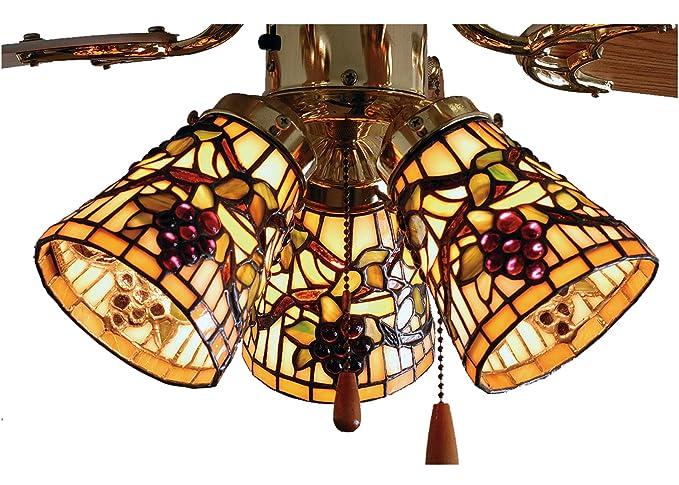 Meyda tiffany 4w jeweled grape fan light shade ceiling pendant meyda tiffany 4quotw jeweled grape fan light shade aloadofball Gallery