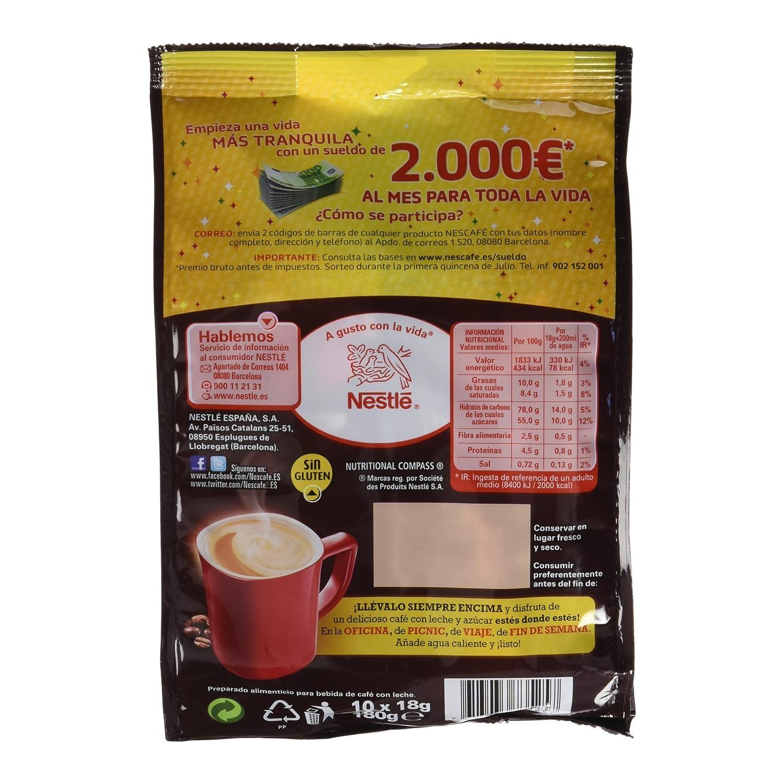 NESCAFÉ 3 en 1, Bolsa de Café, 9 paquetes de 10 x 18 g- Total 1,6Kg: Amazon.es: Alimentación y bebidas