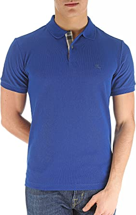 Burberry diseño Botones Polo Camisa de Original Etiquetas: Amazon ...