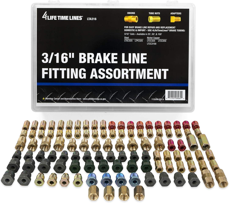 4LIFETIMELINES Fitting Assortment, Union, Adapter, 24 SKU - 3/16 Inch Tube Nut