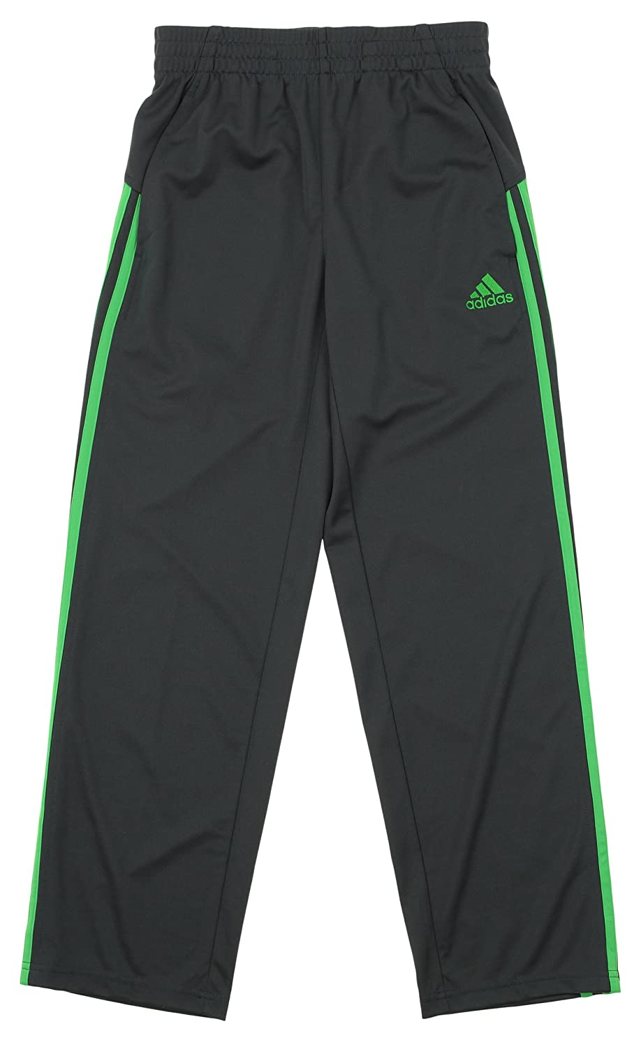 adidas Boys Athletic Loose Core Pants,Grey//Lime X-Large 18