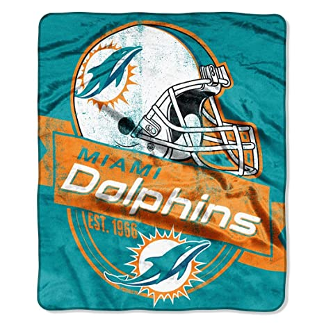 Amazon Miami Dolphins Plush Fleece Blanket Throw 40 X 40 Enchanting Miami Dolphins Plush Fleece Throw Blanket