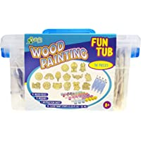 New Image Group WPFT300-70999 Kelly's Crafts Wood Painting Fun Tub-Happy Days