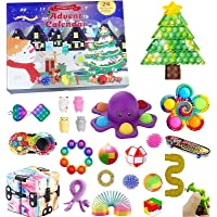 Fidget Toy Adventskalender 2021, Kerst Countdown Kalender 24 dagen Figetsss Toys Sets Stress Relief en Angst Goedkope…