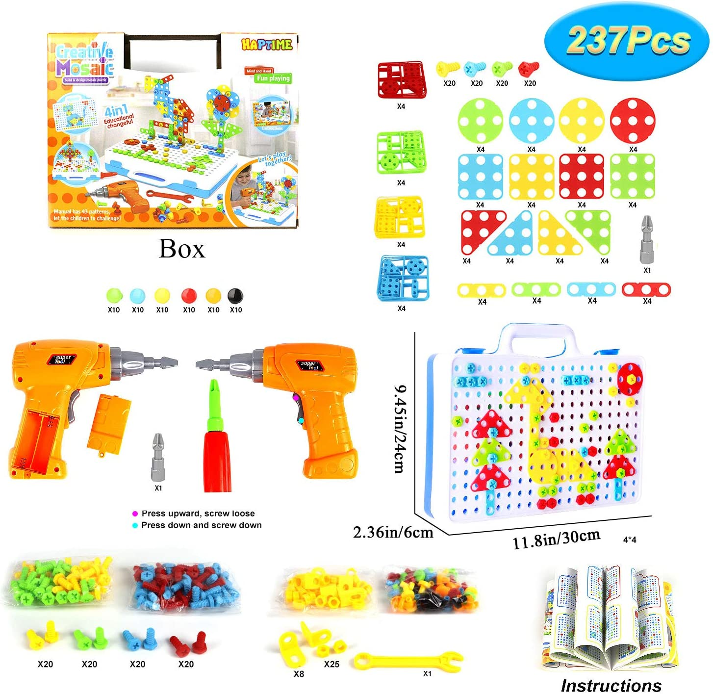 Amazon coupon code for 237 Pieces Electric DIY Drill Educational Set