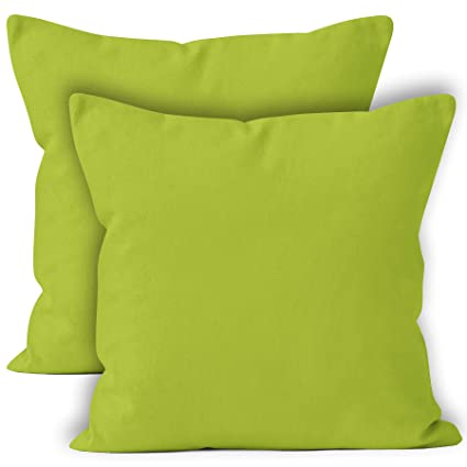 "100/% Cotton Canvas Half Panama 18/""x18/"" Cushion Covers"