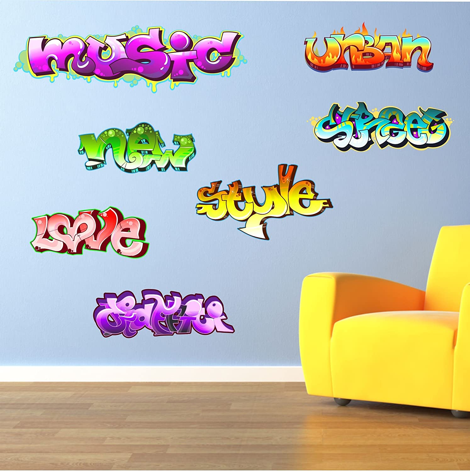 Graffiti wall sticker images home wall decoration ideas graffiti words teenkidschildrens wall art sticker each word graffiti words teenkidschildrens wall art sticker each word amipublicfo Gallery