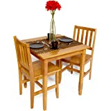 Bistro cafe dining kitchen table and two chair set Home assembly required