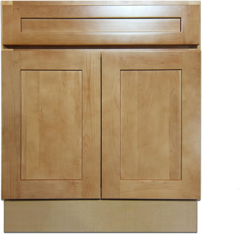 27 Vanity Cabinet Elegant Maple Amazon Com