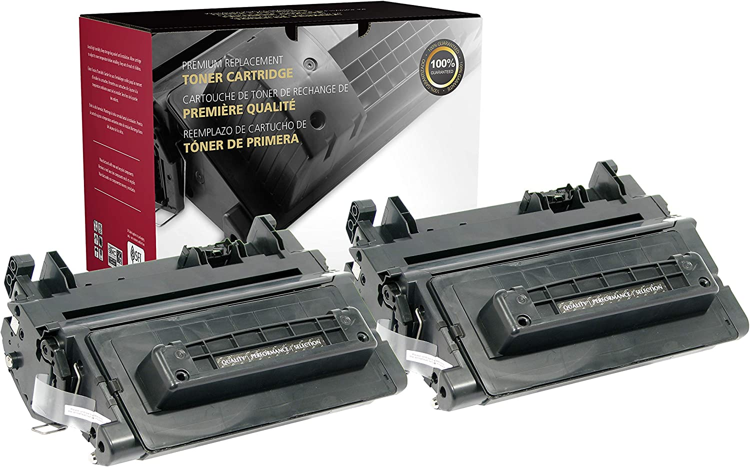 Inksters Remanufactured Toner Cartridge Replacement for HP CC364A - Extended Yield 18K Pages - 2 Pack HP 64A Black